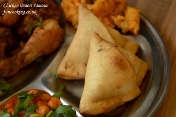chicken onion samosa