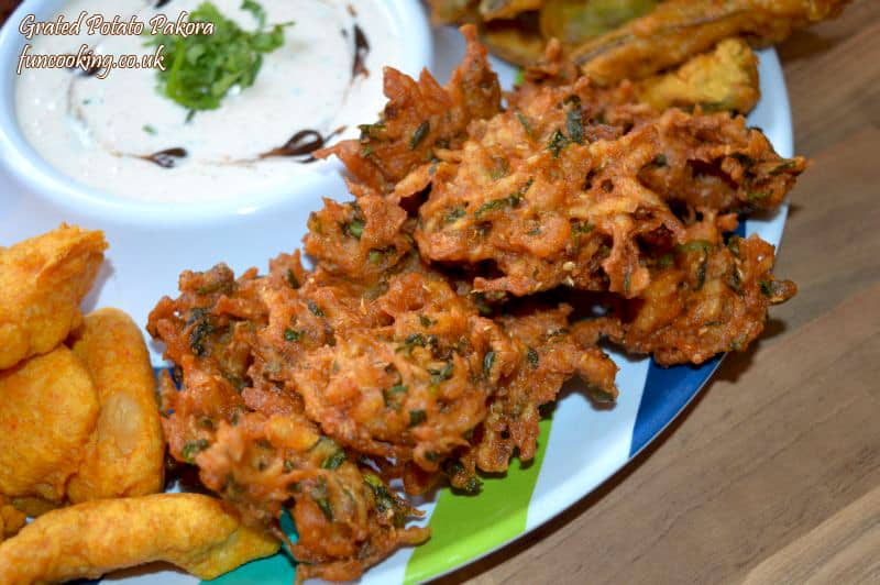 grated potato pakora