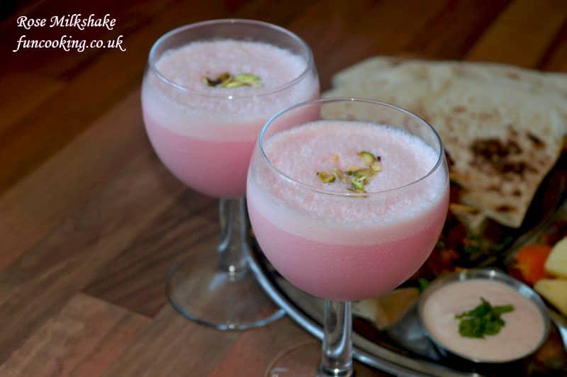 rose milkshake
