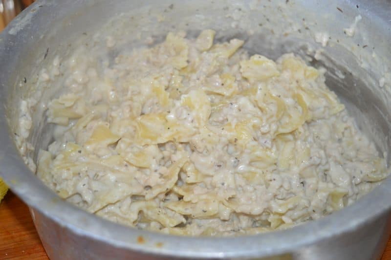1 pot pasta alfredo