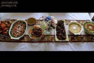 Eid-ul-adha table menu