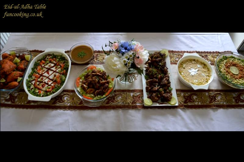 Eid-ul-adha table menu