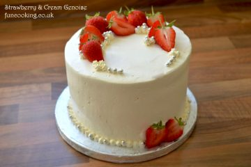 Strawberry and cream genoise sponge