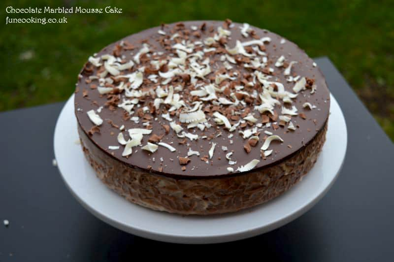 Chocolate Marbled Mousse Cake