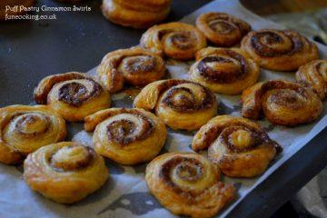 puff pastry cinnamon swirls