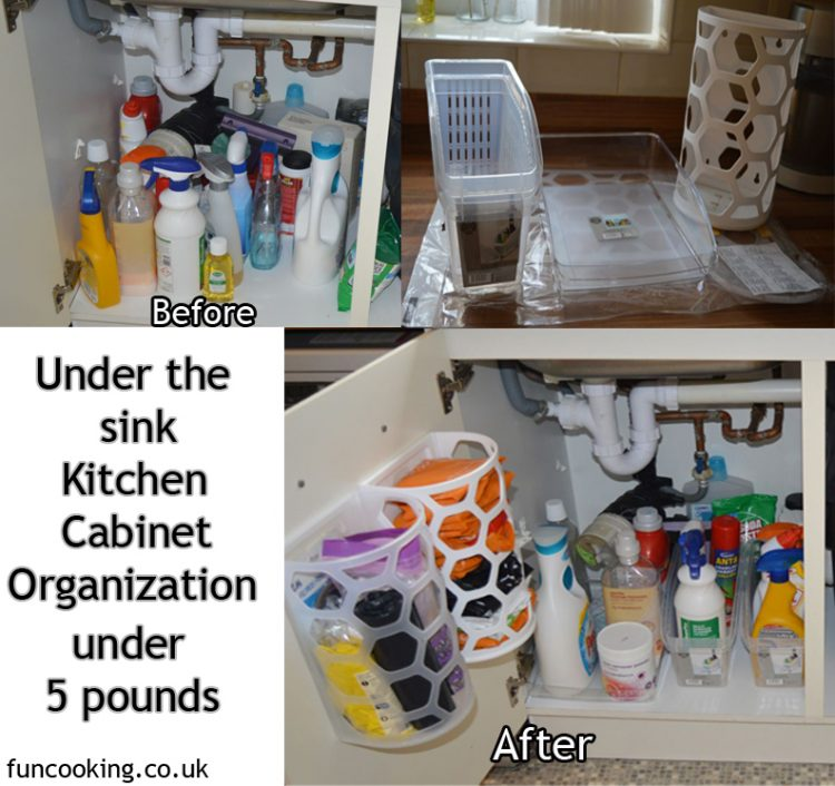 under the sink kitchen cabinet organization