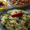Garlic lime rice