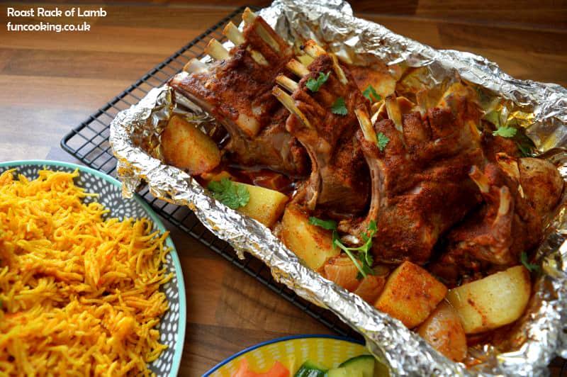 Roast rack lamb