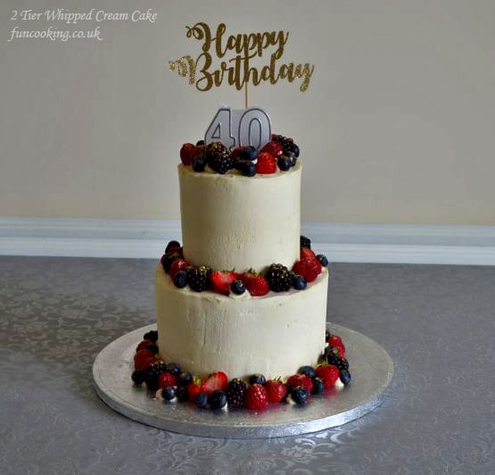 2 tier whipped cream cake